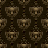 Seamless beautiful antique art deco pattern ornament. Geometric Royalty Free Stock Photo