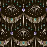 Seamless beautiful antique lace pattern ornament. Geometric back Stock Photos