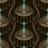 Seamless beautiful antique lace pattern ornament. Geometric back Stock Images