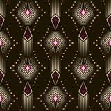 Seamless beautiful antique pattern ornament. Geometric backgroun Stock Photos