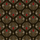 Seamless beautiful antique pattern ornament. Geometric backgroun Royalty Free Stock Photo