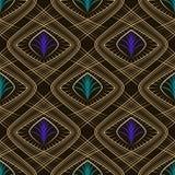 Seamless beautiful art deco pattern ornament. Geometric backgrou Stock Photos