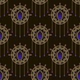 Seamless beautiful art deco pattern ornament. Geometric backgrou Stock Images