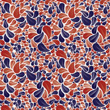 Seamless beautiful floral background in red and blue colors. Stock Image