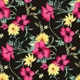 Seamless beautiful flower design pattern royalty free illustration