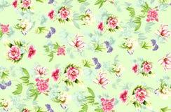 Seamless beautiful flower pattern background stock illustration
