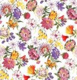 Seamless beautiful flower pattern design stock illustration