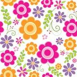 Seamless beautiful flowers pattern stock photo