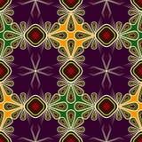 Seamless beautiful lace pattern ornament. Geometric background r Royalty Free Stock Image