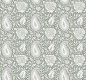 Seamless beautiful paisley background royalty free illustration
