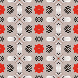 Seamless beautiful red and grey pattern Royalty Free Stock Image
