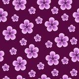 seamless beautiful purple background with flowers Stock Photo