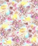 Seamless beautiful watercolor flower pattern design stock illustration