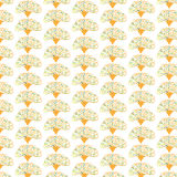 Seamless beauty floral patterns on green background Royalty Free Stock Image