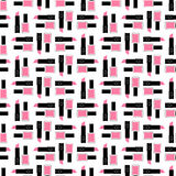 Seamless beauty pattern. Cute fashion illustration with pink lipstick and nail polish. Royalty Free Stock Image
