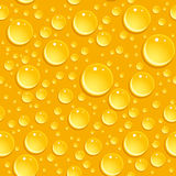 Seamless beer foam background with drops.  Royalty Free Stock Image