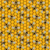 Seamless Bees Royalty Free Stock Photos