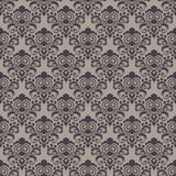 Seamless beige and brown floral wallpaper Royalty Free Stock Images