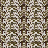 Seamless beige and brown pattern Stock Photo
