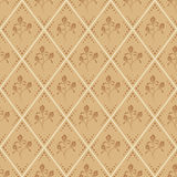 Seamless beige and brown vector floral pattern Royalty Free Stock Photos