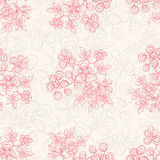 Seamless beige floral background Royalty Free Stock Images