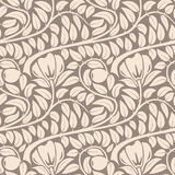 Seamless beige floral pattern. Stock Photography