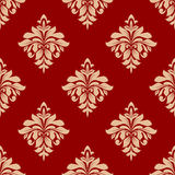 Seamless beige floral pattern Royalty Free Stock Images