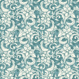 Seamless beige floral pattern Stock Photos