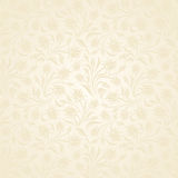 Seamless beige floral pattern. Vector illustration. Royalty Free Stock Photos