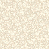 Seamless beige floral pattern. Vector illustration. Stock Image