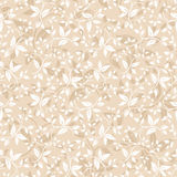 Seamless beige floral pattern. Vector illustration. Royalty Free Stock Images