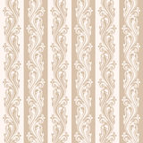 Seamless beige floral pattern. Stock Images