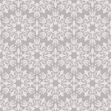 Seamless beige floral wallpaper Stock Images