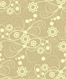 Seamless  with beige flowers. Seamless pattern with beige abstract flowers and curls(can be repeated and scaled in any size Royalty Free Stock Photo