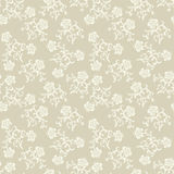 Seamless beige flowers background. Royalty Free Stock Images