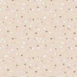Seamless beige ink dots pattern. Vector grunge background. Vector illustration. Stock Photo