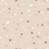 Seamless beige ink dots pattern. Vector grunge background. Vector illustration. Stock Photos