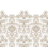 Seamless beige lace. Horizontally seamless beige lace border background with floral pattern Royalty Free Stock Photos