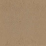 Seamless beige leather texture for mural wallpaper Stock Photos