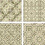 Seamless beige mosaic background set. Seamless beige triangle mosaic pattern background set Stock Photo