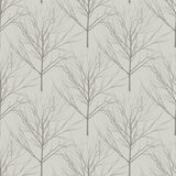 Seamless beige naked trees pattern. Seamless beige naked trees spring vector background Stock Photos