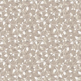 Seamless beige pattern with leaves. Stock Image