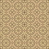 Seamless beige Pattern on White Background Royalty Free Stock Images