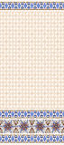 Seamless beige pattern with wide border of fantasy Stock Photography