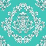 seamless belägga med tegel wallpaper för blom- modell Fotografering för Bildbyråer