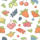 Seamless berries pattern Stock Photo