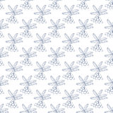 Seamless berries pattern - vector berry texture Stock Image