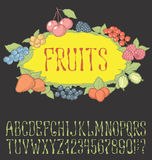 Seamless berries pattern Royalty Free Stock Images