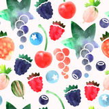Seamless berries Royalty Free Stock Photos