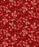 Seamless berry pattern with bunch of rowan Royalty Free Stock Photos